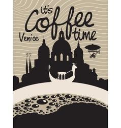 coffee venice vector image vector image