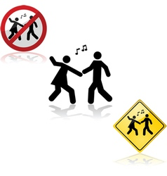 Dance signs vector image vector image