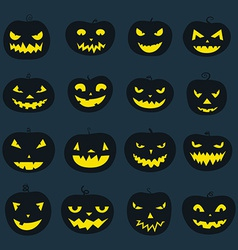 Pumpkin icons vector