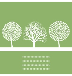 three trees vector image vector image