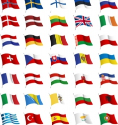 all European flags vector image vector image