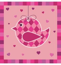 bird greeting card vector image vector image