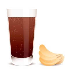 cola and potato chips vector image