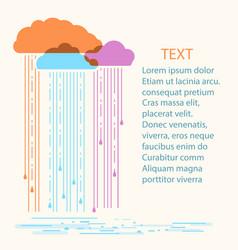 rain background with stylish flat vector image