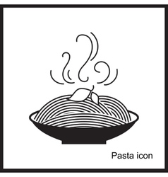 Spaghetti or noodle simple icons vector image vector image
