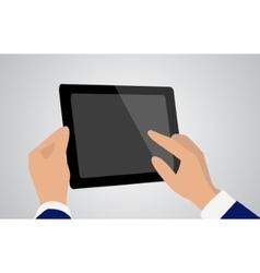 tablet in hands vector image