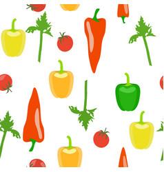 vegetable seamless pattern vector image