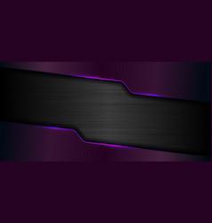 3d banner web template geometric purple glow vector