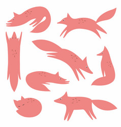 A fox collection for your design vector