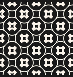 abstract monochrome crosses seamless pattern vector image