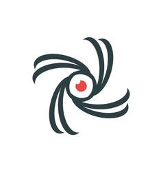 abstract vision eye logo icon design vector image