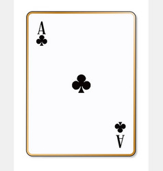 ace clubs playing card vector image
