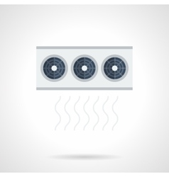 Air conditioning system flat color icon vector image
