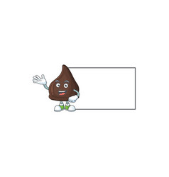 An image chocolate conitos with board mascot vector