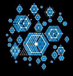 Bauhaus art decorative modular blue wallpaper made vector