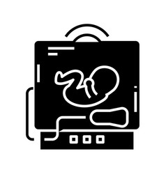 bax ray black icon concept vector image