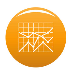 best chart icon orange vector image