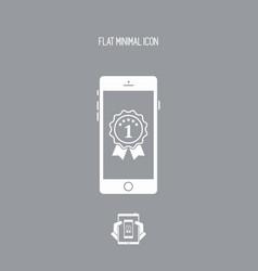Best smartphone awards - flat minimal icon vector