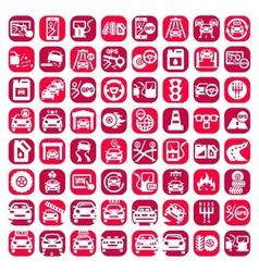 big color auto icons set vector image
