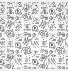 bitcoin pattern seamless isolated vector image
