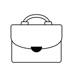 Black silhouette suitcase with handle vector