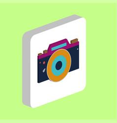 camera dslr computer symbol vector image