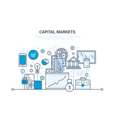 capital markets trading banking e-commerce vector image