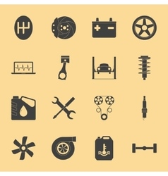 Car service silhouette icons set vector image