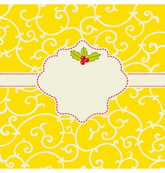 Cheerful card vector image
