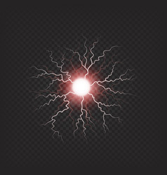 Colorful electric fireball isolated vector