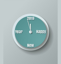 Countdown to new year 2019 paper cut background vector