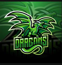 dragon esport mascot logo design vector image