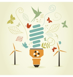 Energy saving bulb vector