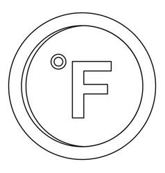 Fahrenheit icon outline style vector