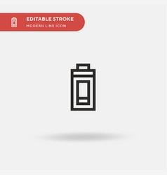 fatigue simple icon symbol vector image
