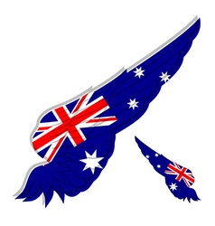 Flag of Australia on Abstract wing vector