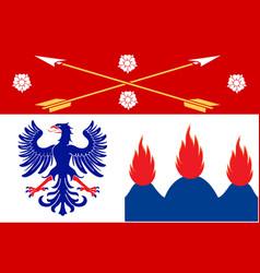 Flag of orebro county in nerke province of sweden vector