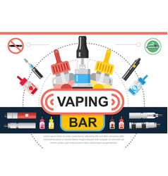 flat vaping shop concept vector image