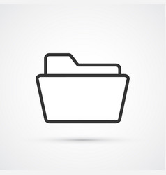 folder flat line black icon eps10 vector image