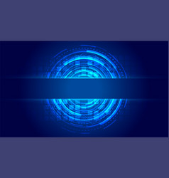 Futuristic high tech lines technology background vector