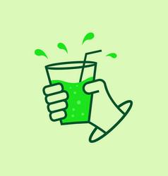 green drink logo vector image