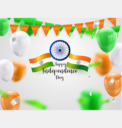 Green orange balloons confetti concept design vector