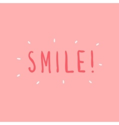 hand drawn smile graphic vector image