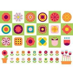 happy flower vector image