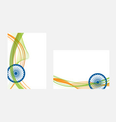 Happy indian independence day celebration on flag vector