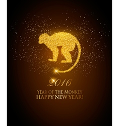 Happy New Year 2016 background with a monkey Year vector image