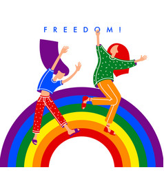 Human rights and gay freedom concept vector