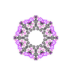 Indian mandala or simple snowflake icon isolated vector