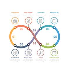 Infinity infographics vector
