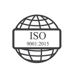 iso icon vector image